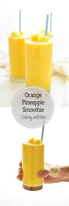Orange pineapple smoothies are a great and refreshing way to start the day! #Smoothies #Healthy