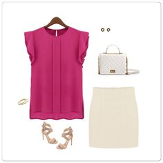 Trendy short sleeve blouse Trendy short sleeve blouse made from sturdy chiffon and it has some stretch very vibrant color. ✅Price is firm unless bundle Tops Blouses