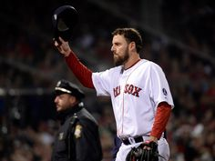 John Lackey tips his hat as he exits Game 6. THANKS, LACKEY...!!!  GREAT GAME.