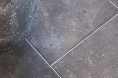This beautiful dark grey, almost black toned tile is made from porcelain yet recreates the stunning Belgian porcelain.  #porcelain #limestone #tiles