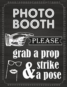 Photo Booth Prop Sign Printed on 65 Lb Card Stock White ZealwithaFish http://www.amazon.com/dp/B00WISXT3W/ref=cm_sw_r_pi_dp_UwZIvb1VFJ3P6