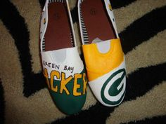 #Handpainted Green Bay Packers shoes