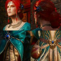 Triss Merigold - Witcher 3 alternative look Jewelry Triss Cosplay, Triss Merigold Cosplay, Triss Merigold Witcher 3, Ciri, Witcher 3 Art, The Witcher 3, Cosplay Tutorial, Character Creation, Alternative Outfits