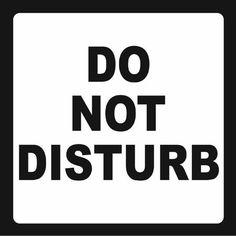 do not disturb sign templates
