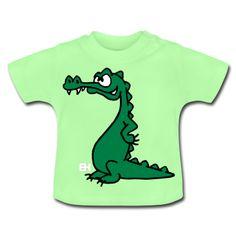 Crocodile baby shirt. #Spreadshirt #Cardvibes #Tekenaartje #cute