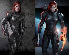 FemShep N7 Armor, Valkyrie Rifle, + Omniblade (Mass Effect 3)