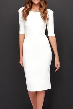 72ad9381b08 8 Delightful white bodycon dresses images