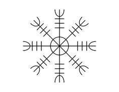 Aegishjalmur, a norse symbol worn by warriors in battle for protection. A tattoo idea.