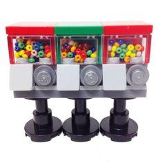 MinifigurePacks: Lego® Minifigure Accessory Bundle (3) Candy/Bubble Gum Machine Dispensers
