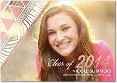 Wild Glow - #Graduation Announcements - Victoria Justice - Taffy Pink #TinyPrintsGrad