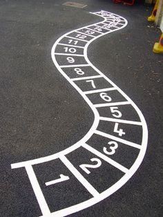 Math playground ideas - number ladder