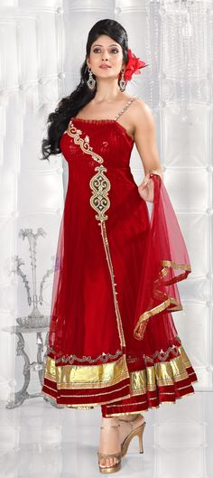 Net fabric......awesome designs and no doubt colour combination is superb.....  Buy now at-> http://www.indianweddingsaree.com/SalwarProduct/86440.html