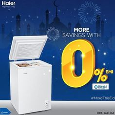 haierindia Nothing feels more important on a festive occasion than sharing a fresh meal with family and friends. It's a joy you want to prolong. Get #MoreThisEid with the Haier Deep Freezer now available on 0% EMI with Bajaj Finance. With food that remains fresh and savings on your expenses, now you can truly make the festivities last longer. Social Media Ad, Social Media Design, Postcard Template, Creative Artwork, User Guide, Creative Design, Finance, Feels, Commercial