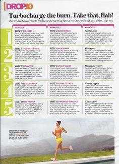 cardio schedule