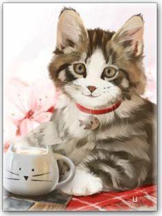 Котик - анимация на телефон №1402629