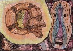 Este trabalho foi apresentado em Miami, em uma abertura da galeria com criações de doentes mentais.