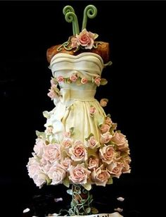 cake shaped like a wedding dress - Google Search