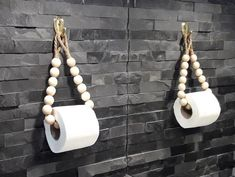 Handmade Home Decor 84784 A wonderful eco-friendly toilet paper holder made of round wooden beads and a jute rope. Perfect for any bathroom. This holder can be used as a toilet paper holder or as a towel holder. Bathroom Layout, Modern Bathroom, Eco Bathroom, Master Bathroom, Bathroom Ideas, Handmade Home Decor, Diy Home Decor, Toilet Paper Roll, Diy Toilet Paper Holder