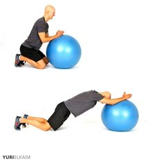 The 14 Best Stability Ball Exercises - Ab Roll Out