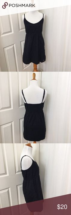 Volcom Pretty Textured Little Black Dress 🍑 Size M (tag size is MM12; on true 6 mannequin)  🍑 Black 🍑 EUC 🍑 Adjustable Straps 🍑 Volcom Brand   ✨ Price is FIRM ✨ All items from a smoke free home  ✨ Please ask questions prior to purchase Volcom Dresses