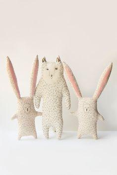 Sleepy Bunny Stuffed Toy baby gift Rabbit van WoodlandTale