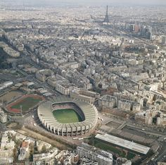 Parc des Princes stadium in Paris. Home to Paris St. Germain.