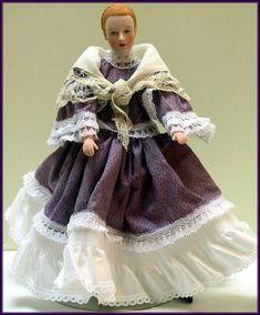 Linda Walsh Originals Dolls and Crafts Blog: Isolda - Just Let Her Stroll In The Park! - Victorian Girl Doll