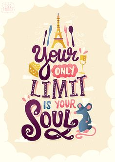 Pixar Quote Posters - Created by Risa Rodil Prints available for sale at Society6 or Redbubble, and T-shirts are available at TeePublic.