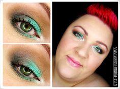 makijaż makeup blog makeupblogger inglot 104R matowa mięta zimne brązy letnia mięta na powiekach mint brown face eyes