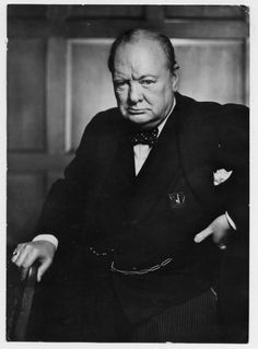"""""""Winston Churchill...It was one of the most famous portraits ever made. Some say it is the most reproduced image in history. Karsh had asked Churchill to remove the cigar for the photographic portrait. When Churchill refused, Karsh, then 33, walked up to the great man, said, """"Forgive me, sir,"""" and calmly snatched the cigar from Churchill's lips. As Churchill glowered at the camera, Karsh snapped the picture."""""""