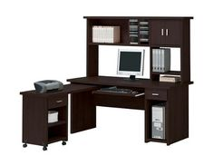 Espresso Finish Home Office Computer Desk with Hutch >>> Read more  at the image link.Note:It is affiliate link to Amazon.