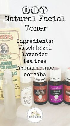 When used as a natural remedy for acne, witch hazel can help reduce redness, inflammation, oiliness and speed up the healing process by killing off bacteria. It is even more effective when used with tea tree, or other essential oils such as lavender, frankincense and copaiba. Try making this easy, DIY facial toner at home today! Click through to read more, or pin to save and look at later! #acneastringent,