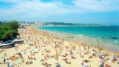 Playa Sardinero in Santander, Spain Spain Tourism, Vacation Memories, Old Port, Spain And Portugal, Honeymoon Destinations, Beautiful Places, Amazing Places, Places To Go, Around The Worlds