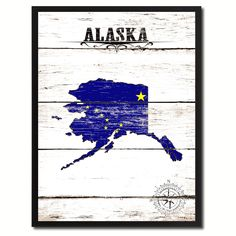 Alaska State Flag Gifts Home Decor Wall Art Canvas Print Picture Frames