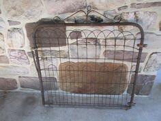 Vtg Wire Garden Yard Art Gate Cottage Style Architectural Fence | eBay