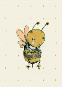 Childrens Wall Art Print Bee lovePrint8x11 inches by holli on Etsy, $20.00