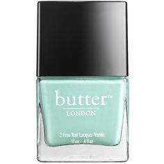 butter LONDON Nail Lacquer, Poole 0.4 oz (12 ml) ($15) ❤ liked on Polyvore featuring beauty products, nail care, nail polish, nails, beauty, makeup, fillers, cream nail polish, summer nail color and butter london