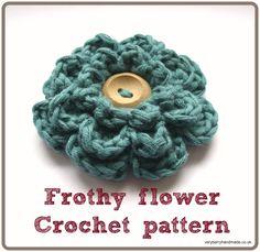 Frothy flower crochet pattern header