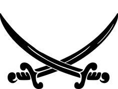 Pirate Crossed Swords clip art