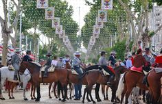 "To attend the famous Fair in Seville on horseback, you need a ""traje corto"" or Spanich country suit. For men, women and kids."
