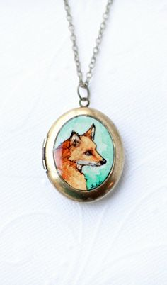 The very last 2 Red Fox locket necklaces left ... by SarahLambertCook, $32.00