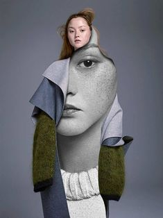 Model: Devon Aoki. With just a utility knife, Madrid-based photographer and artist Pablo Thecuadro cuts apart fashion editorials and photographs to create collages.