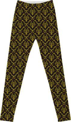 Custom printed Dazzling Damask Pattern leggings from Saytoons -$60