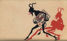 Various vintage Devil (and Krampus) related postcards compiled by Monte Beauchamp in the book Devilish Greetings Satan, Devil Aesthetic, Devil Tattoo, Arte Obscura, Dark Art Drawings, Macabre Art, My Demons, Flash Art, Dope Art