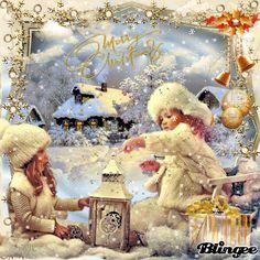 Christmas Christmas Jokes, Christmas Scenes, Noel Christmas, Xmas, Vintage Christmas Images, Whimsical Christmas, Christmas Pictures, Holiday Gif, Christmas Landscape