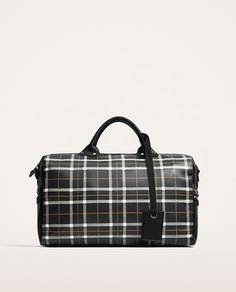 Image 2 of CHECKED BOWLING BAG from Zara