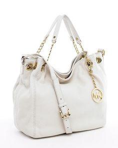 White MK purses just scream summer! , www.CheapMichaelKorsHandbags#com 2013 michael kors handbags store,