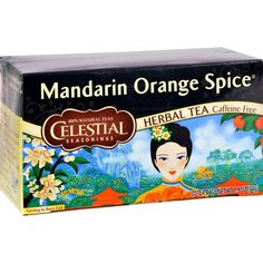 Celestial Seasonings Herbal Tea - Mandarin Orange Spice - 20 BagsIngredients : Orange peel, hibiscus, roasted chicory root, rosehips, blackberry leaves, chamomi