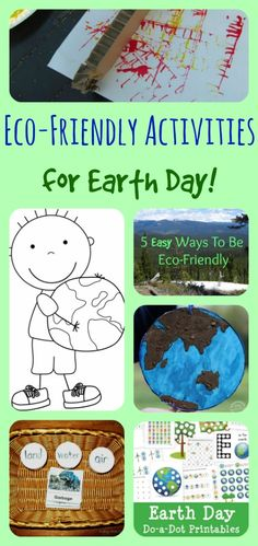 Earth Day Activities with lots of free printables!