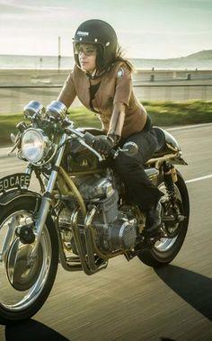 Happy biker::
